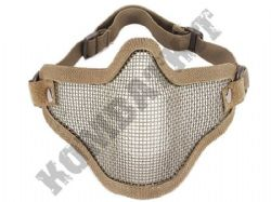 Airsoft Mask Wire Mesh Lower Half Face Safety Protector Tan khaki